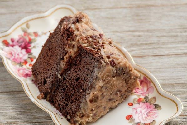 Gourmet German Chocolate Cake Slice