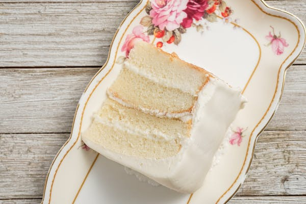 Gourmet Almond Wedding Cake Slice