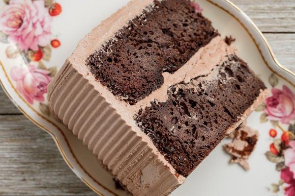 Gourmet Double Chocolate Cake Slice