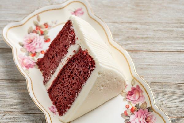 Gourmet Red Velvet Cake Slice