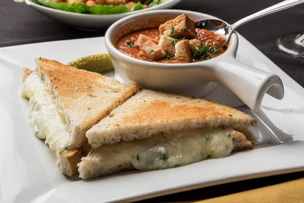 Italian Herb Grilled Cheese & Soup