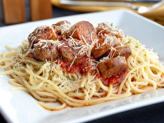 Spaghetti w/ Smoked Italian Sausage Entrée