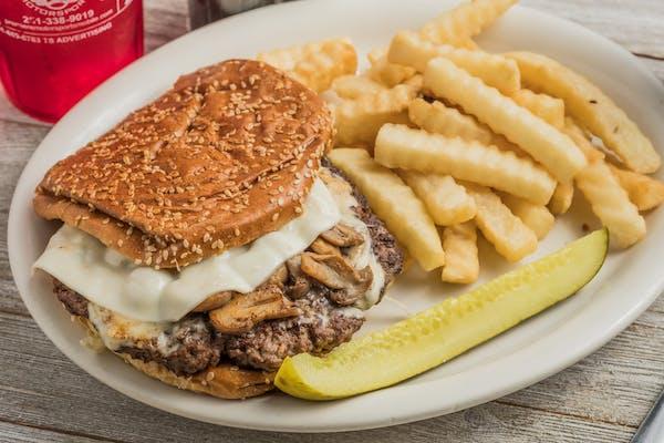 Mushroom Swiss Steer Burger
