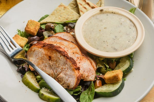 Greek-ish Smoked Chicken Salad