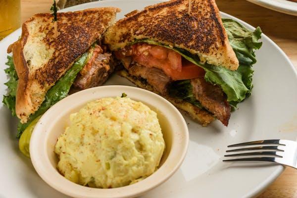 B.L.T.R. or T.L.T.R  Sandwich