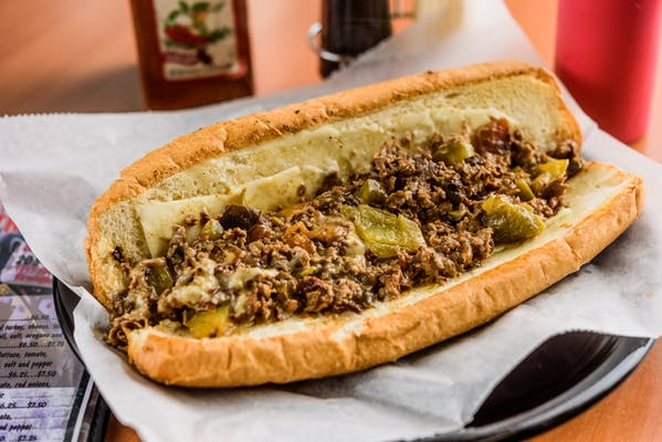 The Famous with Green Peppers Cheesesteak
