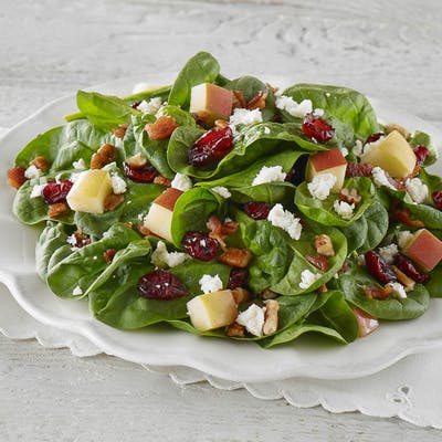 Spinach Cranberry & Apple Salad