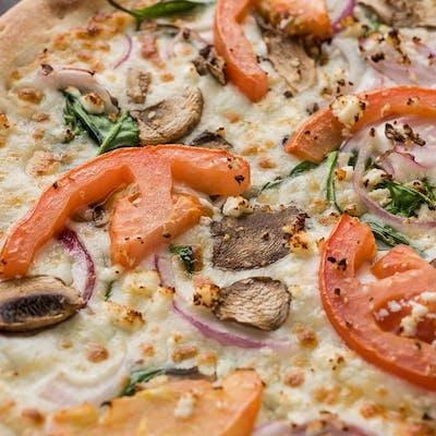 Garden Alfredo Pizza