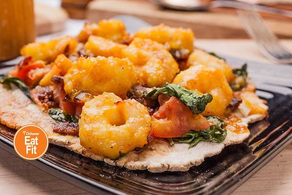 Island Shrimp & Spinach Flatbread