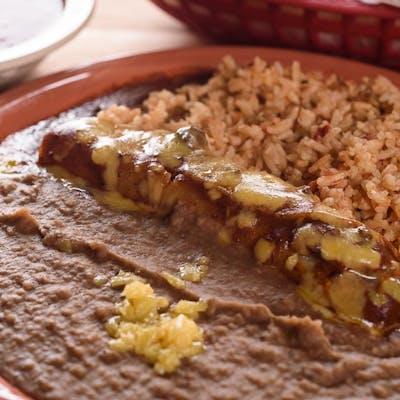 #1 Kid's Enchilada, Rice & Beans