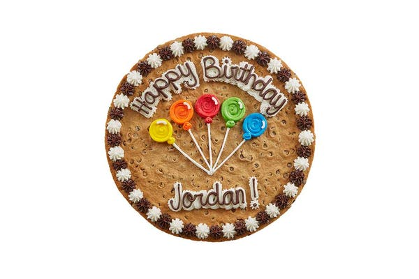 "(16"") Ballon Design Cookie Cake"