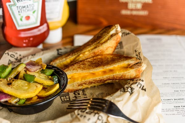 Kid's Big Texas Grilled Cheese Sandwich