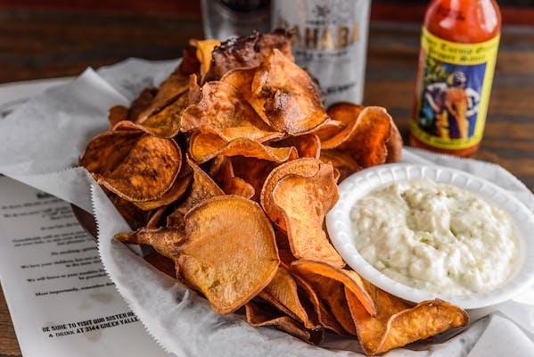 Sweet Potato Chips Appetizer