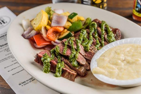 Grilled Flank Steak & Cilantro Chimichurri