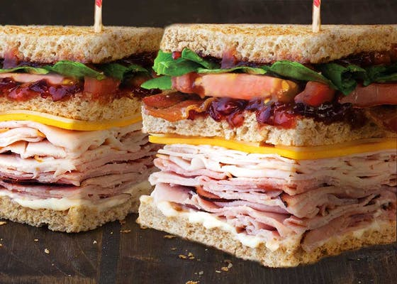 Orange Cranberry Club Sandwich