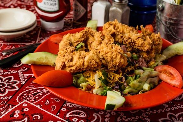 Fried Yard Bird Salad