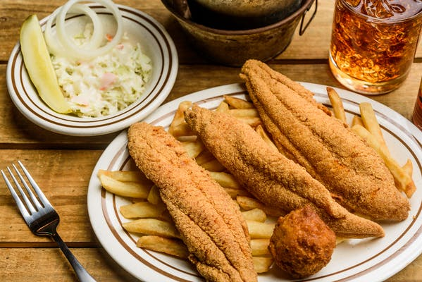 Small Catfish Plate, 3 fillets
