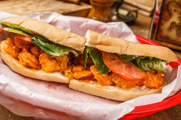 Buffalo Shrimp Poboy