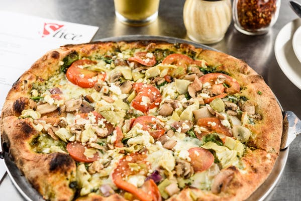 Veggie Pesto Pizza
