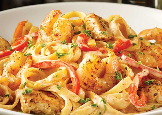 Cajun Shrimp & Chicken Pasta