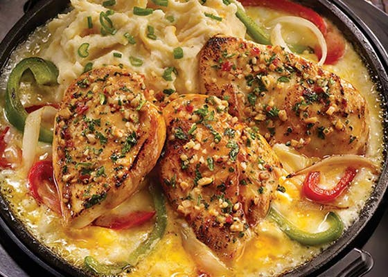 Sizzling Chicken & Cheese