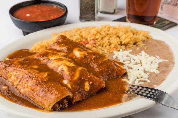 L10. Enchiladas, Rice & Beans
