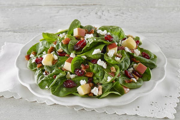 Spinach Cranberry Apple Salad
