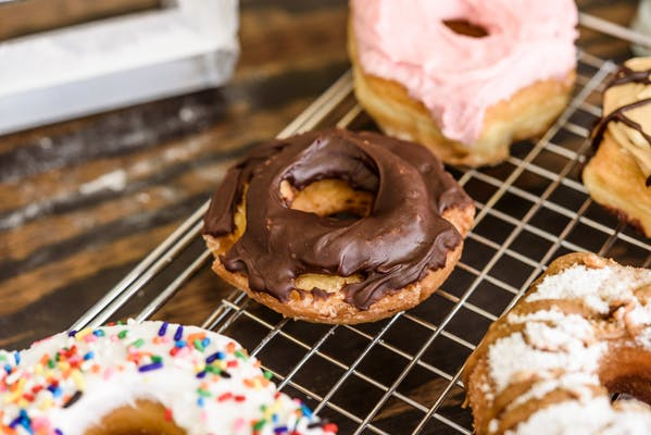 Chocolate Covered Sour Cream Old-Fashioned Donut