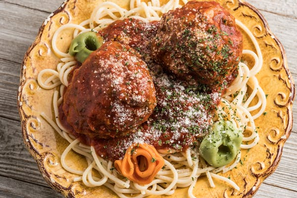Papa Tony's  Meatball Special with Pasta