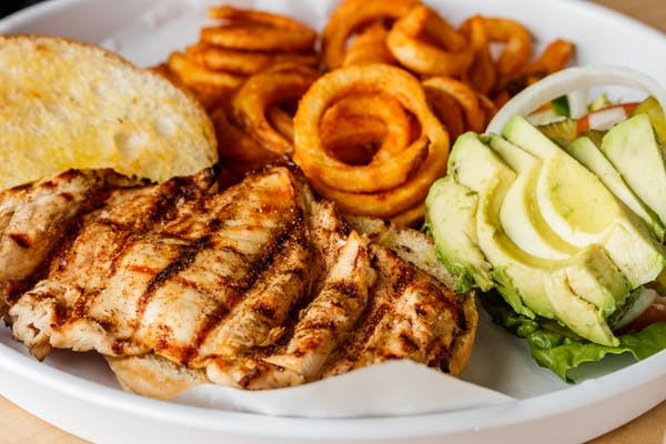 Grilled Chicken Burger Combo