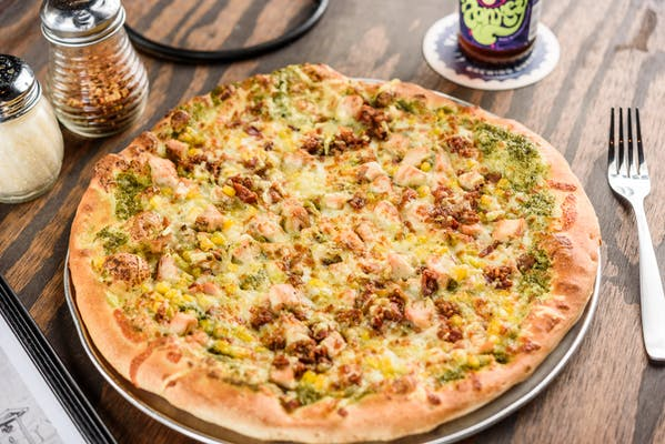 Chicken Pesto Pie Pizza