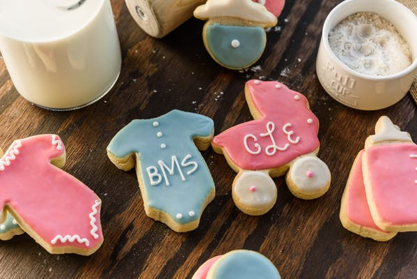 Girl & Boy Baby Shower Cookies