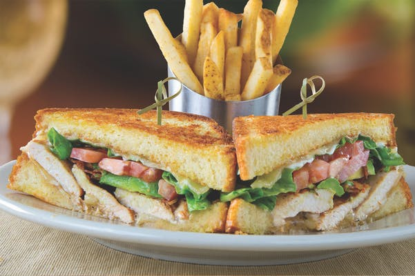 Chicken & Avocado Club with Fries