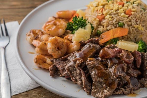 L8. Hibachi Steak & Shrimp Entrée