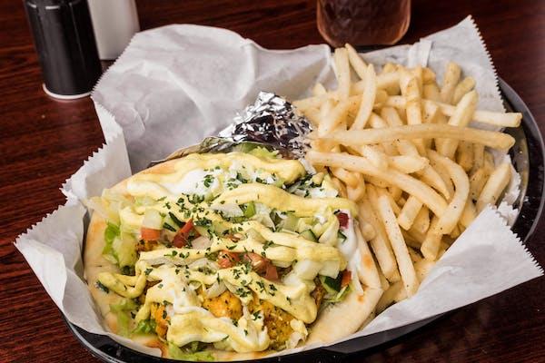 Chicken Curry Kebab Sandwich