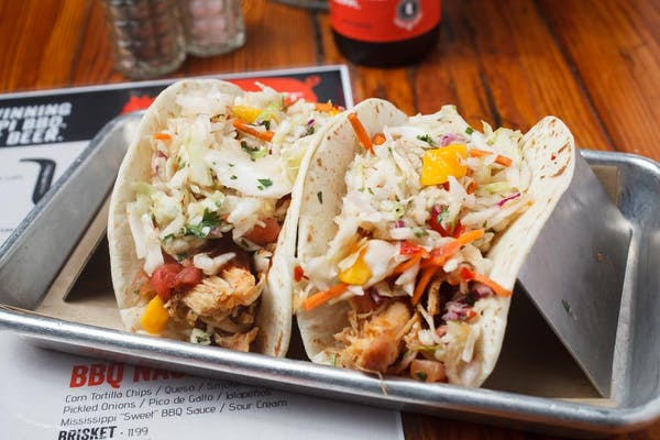 Smoked Chicken BBQ Tacos