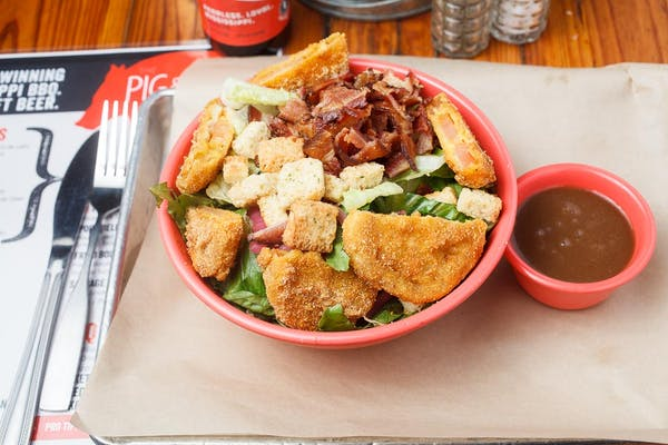 Fried Green Tomato BLT Salad