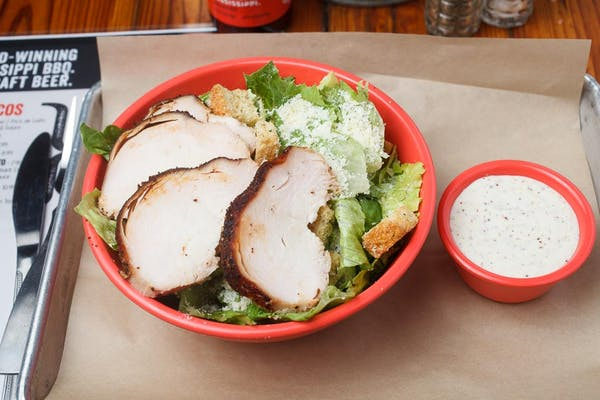 Smoked Chicken Caesar Salad
