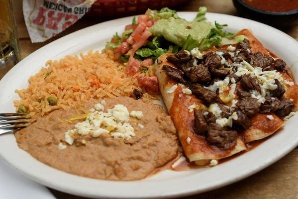 43. Enchiladas Al Carbon