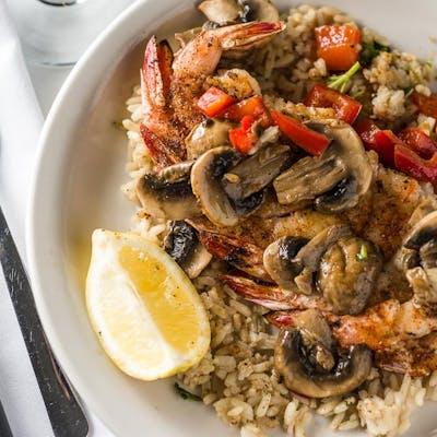 Shrimp Souvlaki Platter