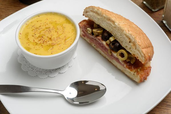 Lunch Half Muffuletta & Soup of the Day