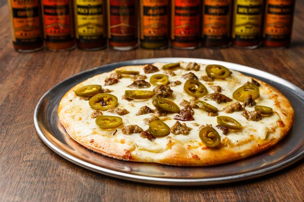 Rev'd Up Meat & Peppers Pizza