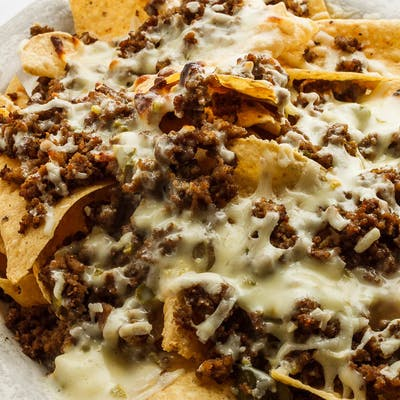 Nachos with Beef & Beans