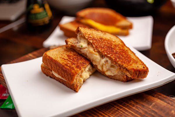 Kid's Grilled Peanut Butter & Mashed Banana Sandwich