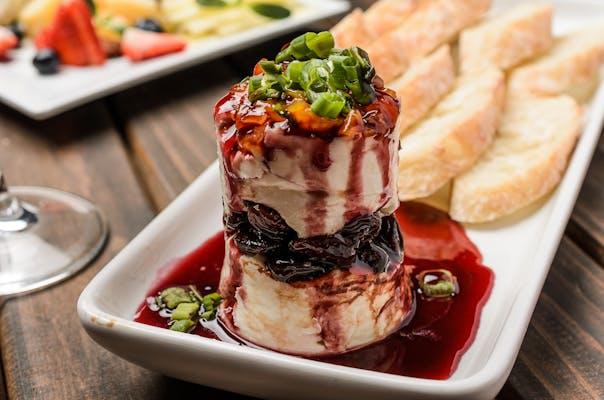 Goat Cheese, Black Cherry & Apricot Napoleon