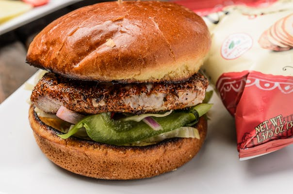 Blackened Ahi Burger