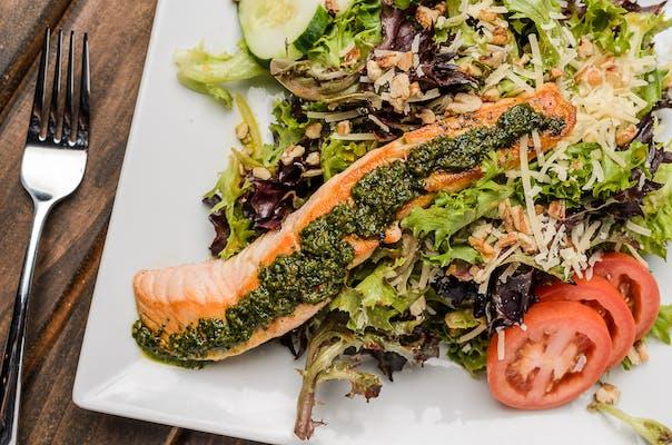 Pesto Roasted Salmon Salad