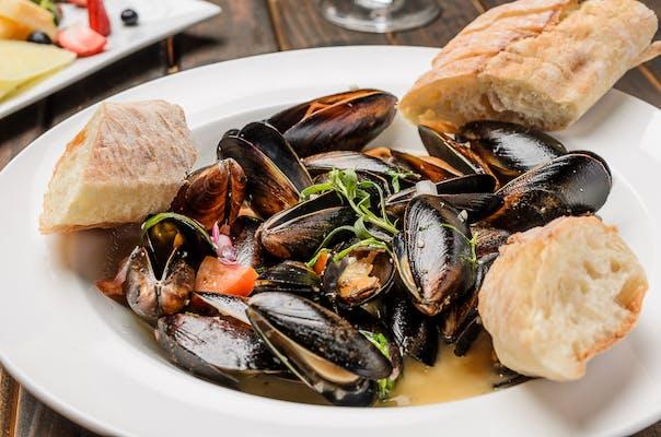 Sautéed Blue Mussels