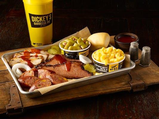 Three BBQ Meat Plate
