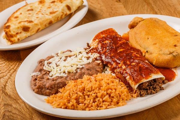 B. Chile Relleno, Quesadilla & Burrito Combo